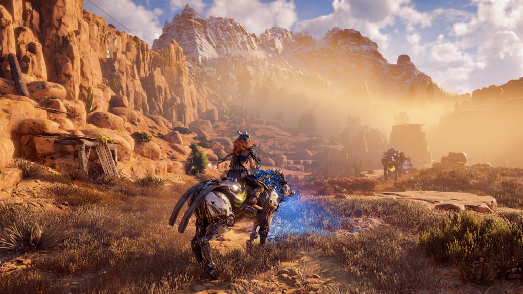 скриншот из игры horizon zero dawn на ps4