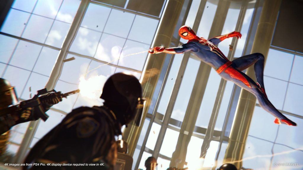 скриншоты из spider man на ps4 pro
