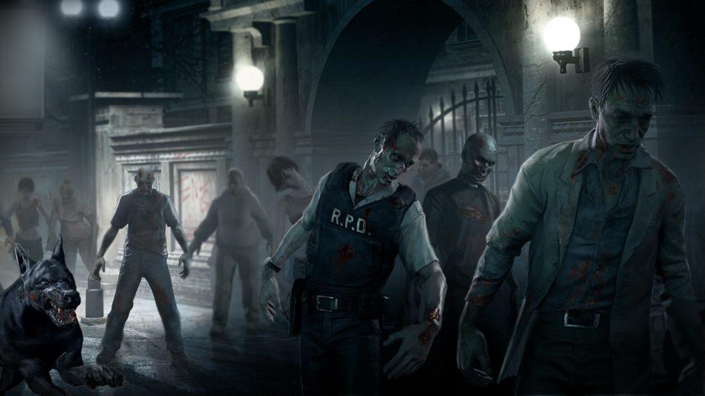 Толпа зомби из resident evil