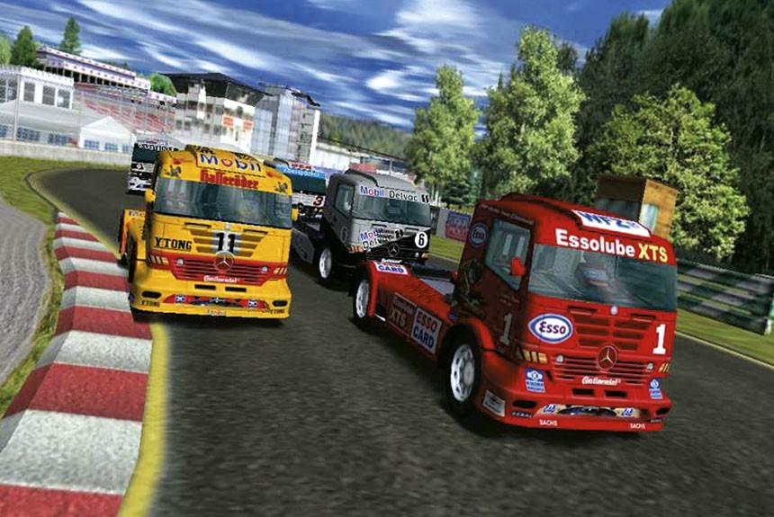 скриншот из игры Mercedes-Benz Truck Racing
