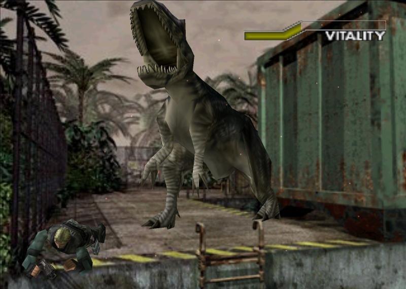 скриншот из игры dino crisis 2