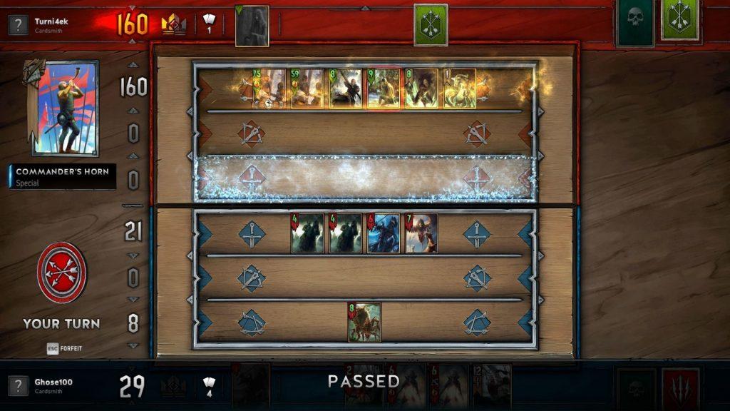 скриншот игры gwent