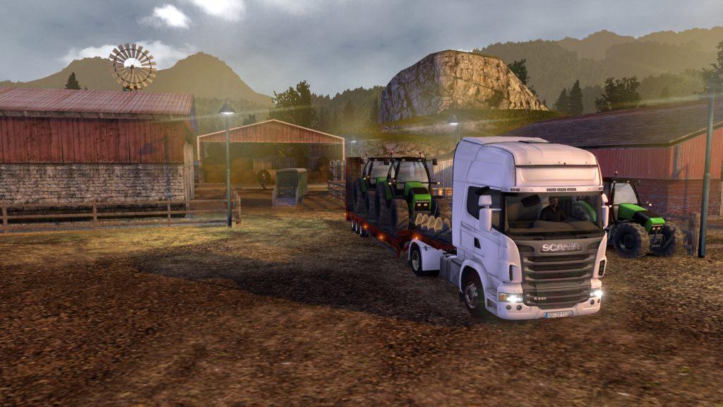 скриншот игры truck and trailers
