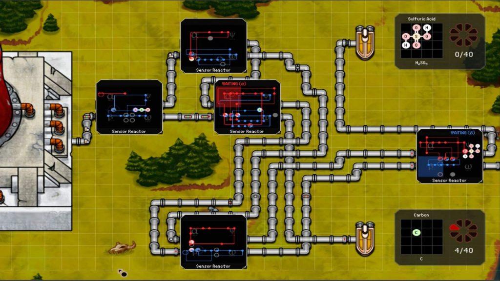 скриншот из игры SpaceChem