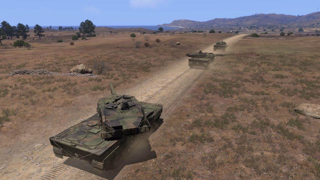 скриншот с танком из arma 3
