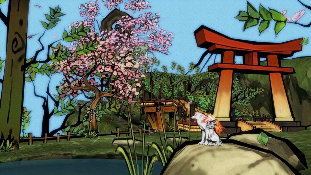 скриншот игры okami