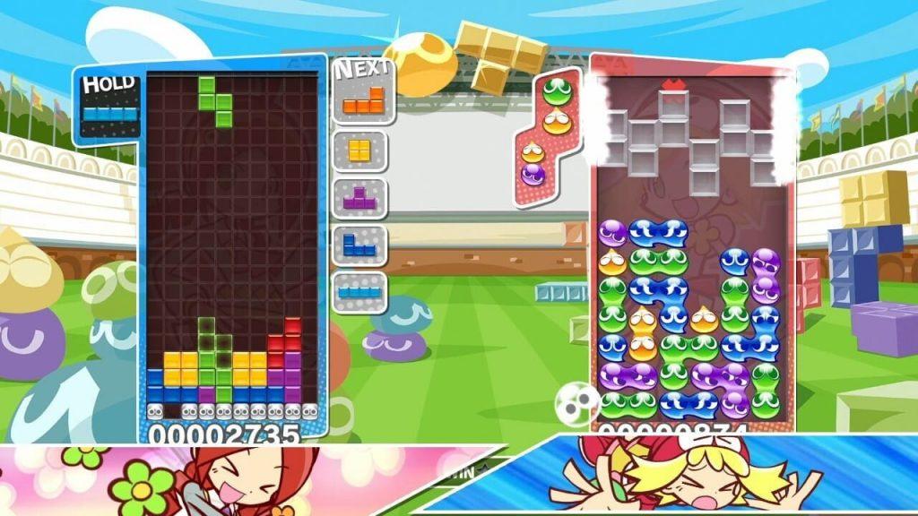 скриншот из puyo puyo tetris