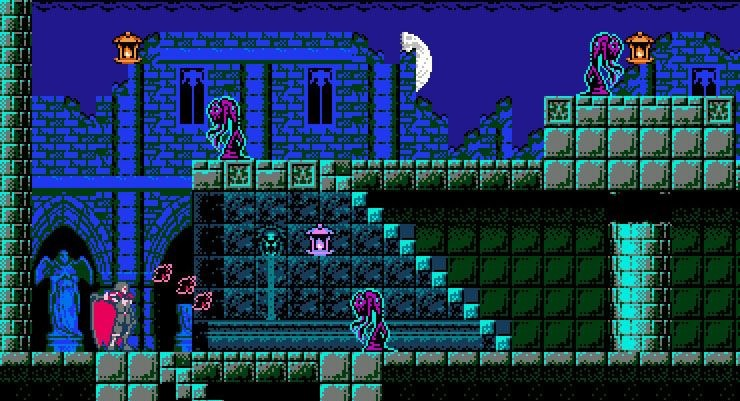 скриншот из Bloodstained Curse of the Moon