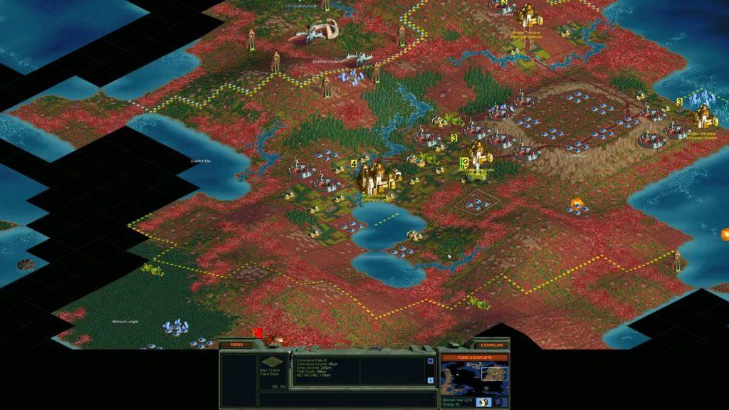 скриншот из Sid Meier's Alpha Centauri