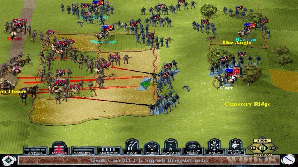 скриншот из Sid Meier's Gettysburg!