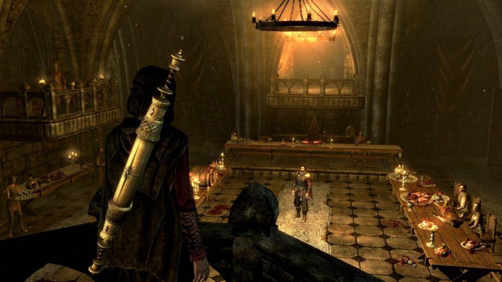 скриншотт из skyrim dawnguard