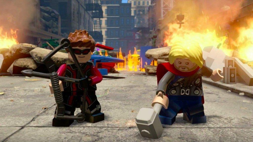 скриншот из LEGO Marvels Avengers