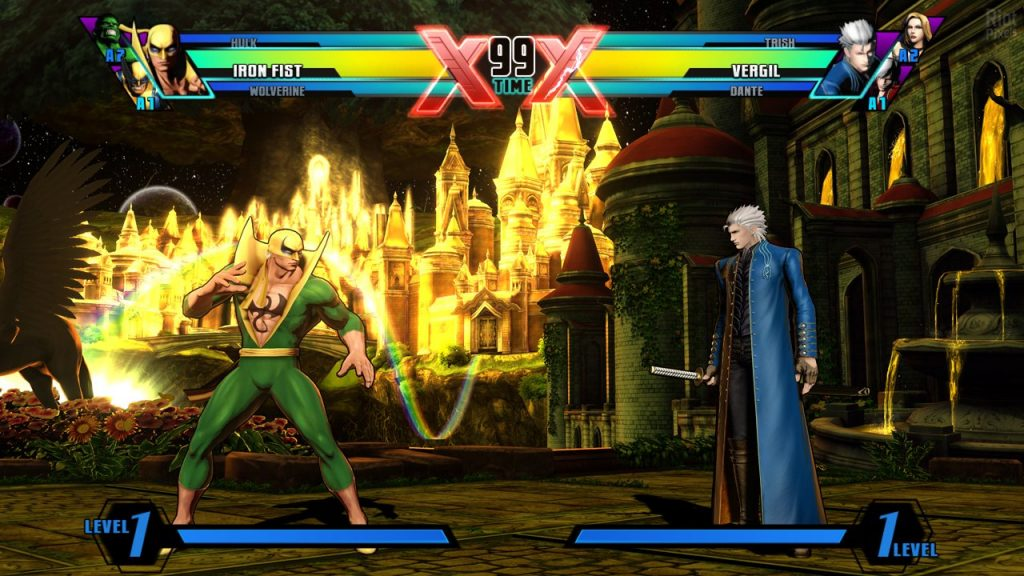 скриншот из Ultimate Marvel vs. Capcom 3
