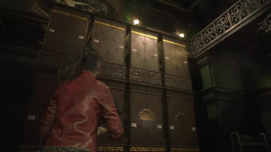 скриншот из resident evil 2 в библиотеке