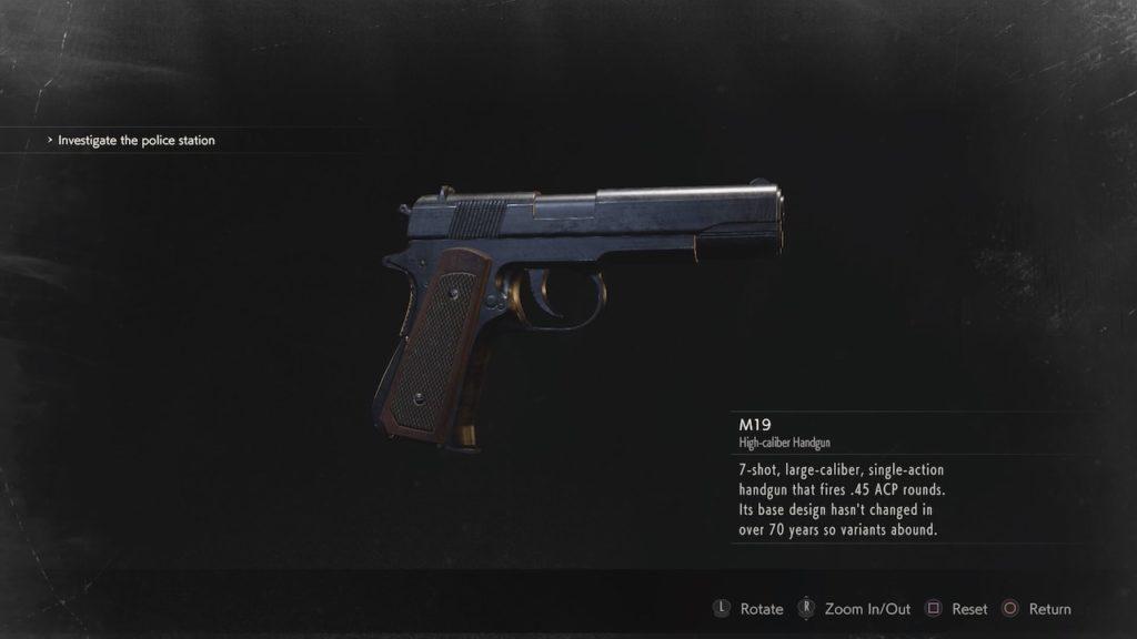 пистолет из игры resident evil 2 remake